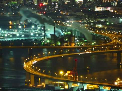 広島 人気夜景スポット、串掛林道からの眺め