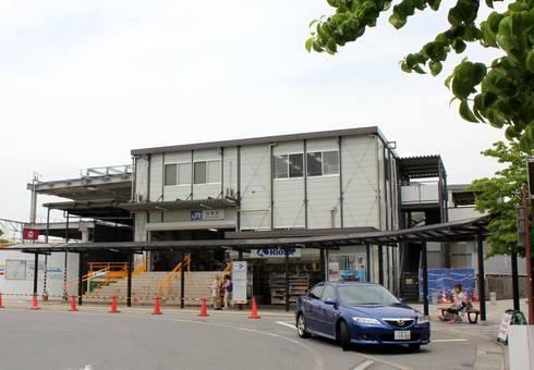 JR西条駅の仮設駅舎