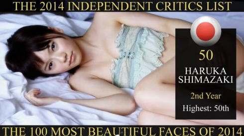 世界で最も美しい顔100人 2014年、50位はAKB 島崎