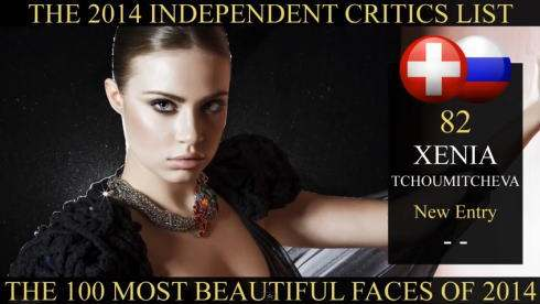 世界で最も美しい顔100人 2014年、82位はロシアのゼニア