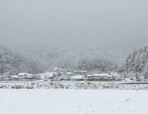庄原冬の雪景色 画像