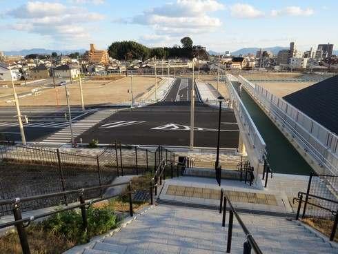 JR廿日市駅から佐方小学校に向かう陸橋