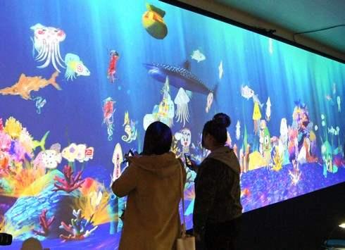 学ぶ!未来の遊園地、広島初上陸の 触って遊んで学べるデジタルアート