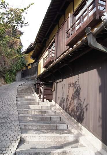 流星ワゴンロケ地、福山・鞆の浦の風景 路地