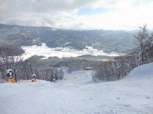 女鹿平スキー場(めがひらスキー場)、上からの景色
