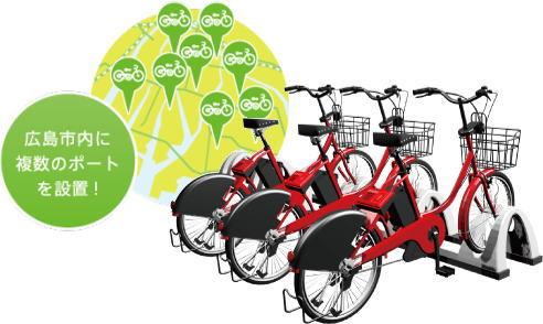 ドコモが自転車の観光レンタサイクルを広島市でスタート