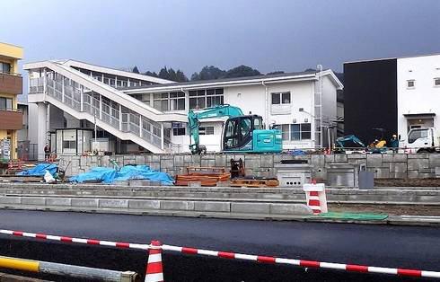 三次駅リニューアル工事風景 画像2