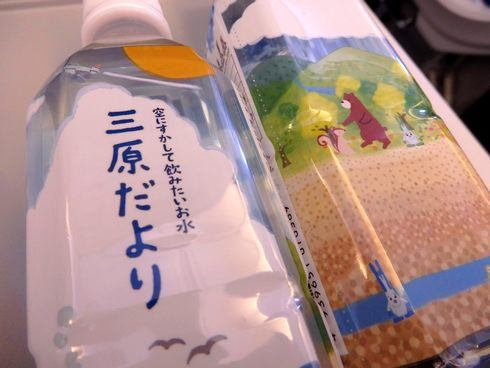 ダルマやタコなど可愛いパッケージのご当地水「三原だより」