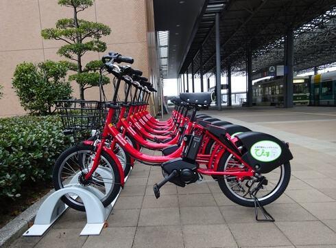 広島市の自転車レンタル、ぴーすくる