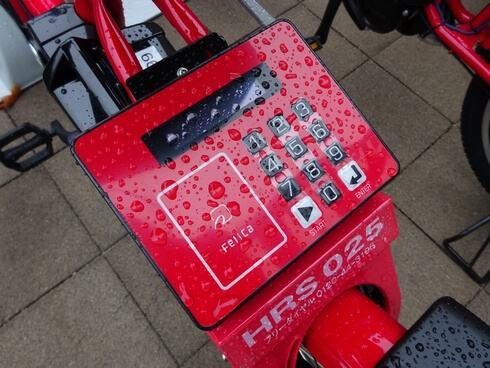 広島市の自転車レンタル、 ICカードのFeliCa(フェリカ)対応