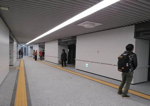 アストラムライン新白島駅のホームの先
