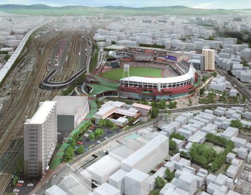 広島ボールパークタウンついに全て完成、A地区・B地区施設詳細