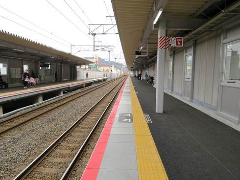 JR新白島駅のホーム