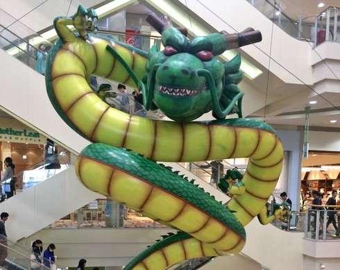 巨大な神龍(シェンロン)、イオンモール広島府中に現る