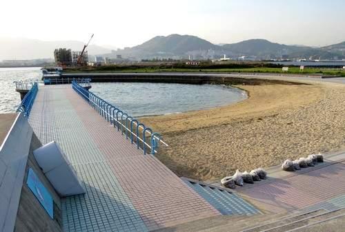 観音マリーナ海浜公園、広島湾が一望できる海沿い癒しスペース