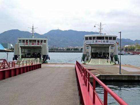佐木島へのフェリー