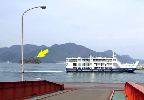 佐木島・鷺港から見た宿祢島