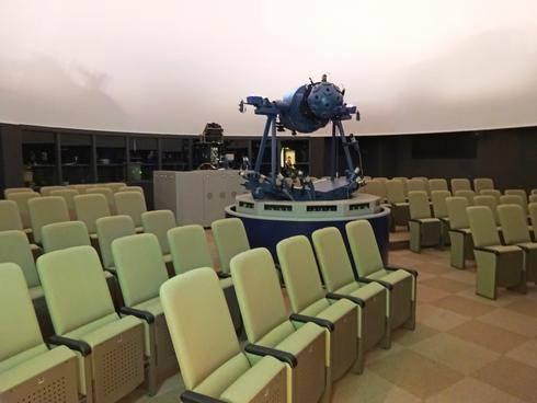 360度スクリーンのプラネタリウム、ジミーカーターシビックセンターで