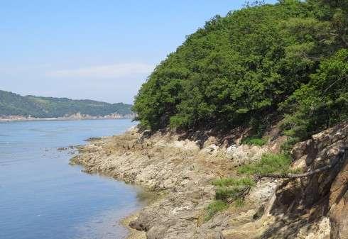 玉津島に到着