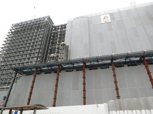 呉市役所の新庁舎を工事中