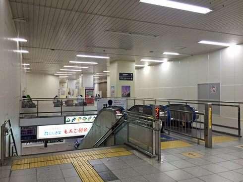 広島駅北口のエスカレーター