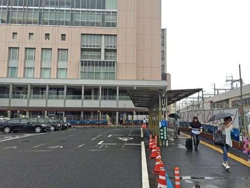 シェラトンホテル広島の前にタクシー乗り場