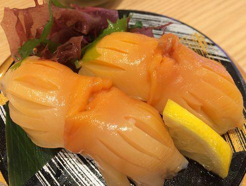 赤貝のお寿司、すし辰