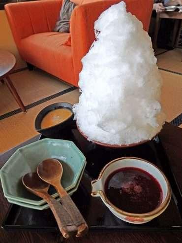 東広島 カフェ だいだい 雪氷の写真