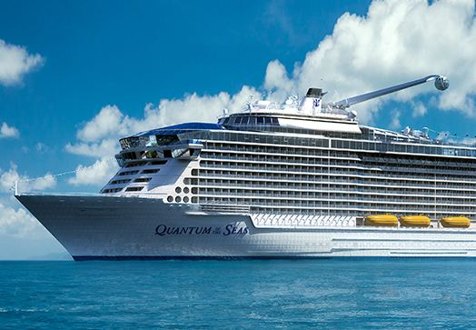世界最大級の豪華客船クァンタムオブザシーズが、広島・五日市港に寄港