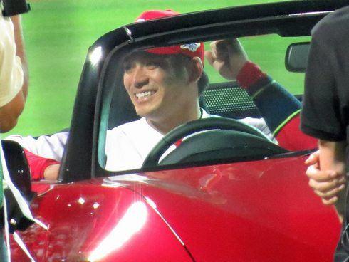田中選手と新型ロードスター