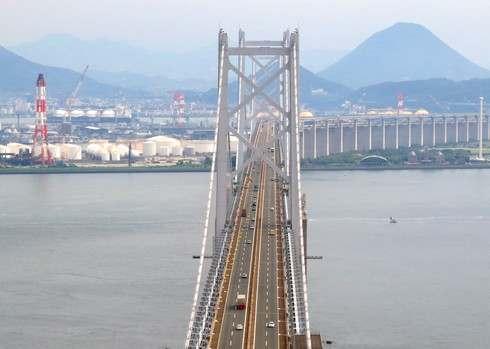 瀬戸大橋スカイツアー 塔頂からの香川の風景