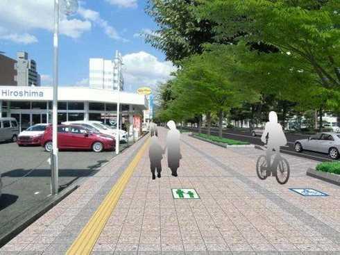西条 ブールバールの歩道、完成イメージ