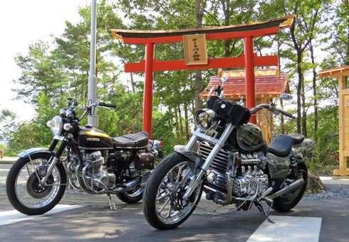 楽山(らくさん) 北広島町にバイクの聖地、オートバイ神社も