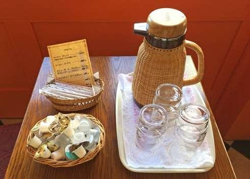 ブランジェリーヒロのカフェコーナー