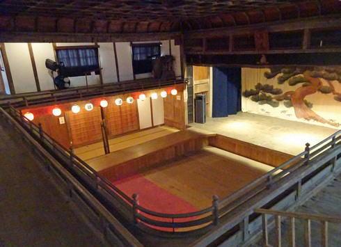 上下町 翁座 二階からの景色