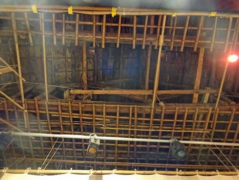上下町 翁座 舞台の天井のつくり