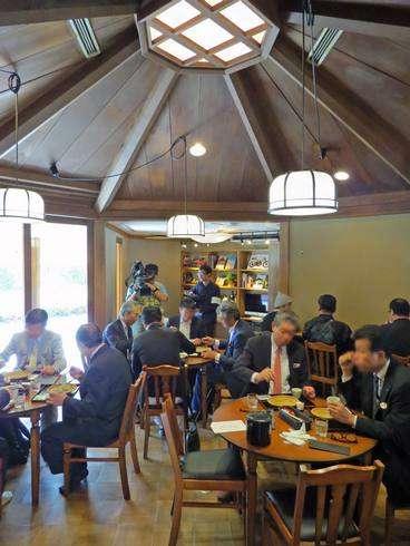 北広島町、達磨跡地で楽山の軽食コーナー