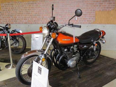 北広島町 楽山にて、ビンテージバイクの展示も