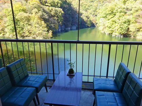 カフェ・ド・帝釈峡 テラス席から見る景色