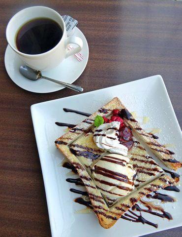 カフェ・ド・帝釈峡 ハニートーストとコーヒーのセット