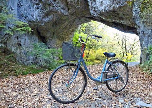 帝釈峡をチャリ散歩、レンタサイクルで森を巡るラクラク観光