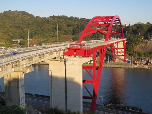第三音戸大橋 から見る第二音戸大橋