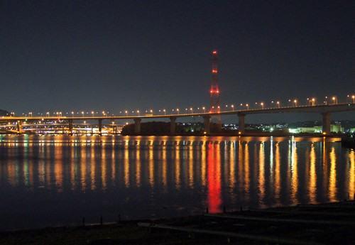 海田大橋の夜景