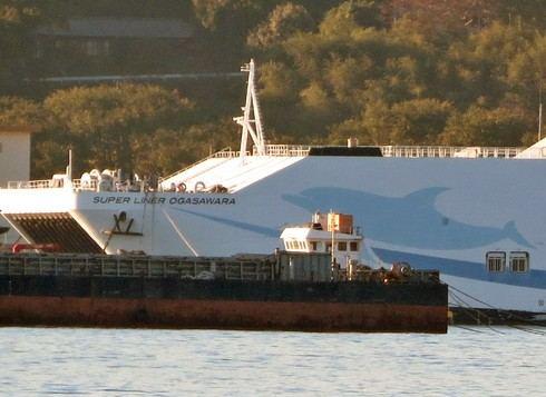 「テクノスーパーライナー」 スーパーライナー オガサワラが江田島の解体場に
