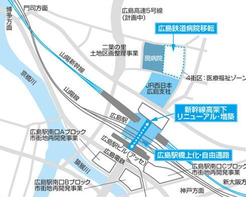 JR西日本が担う広島駅とその周辺のリニューアル