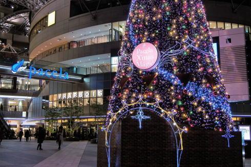 パセーラツリーなどクリスマス色の広島市、街の風景