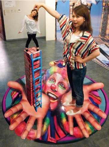 視覚トリック3Dアート展、ゆめタウン廿日市で1月11日まで開催