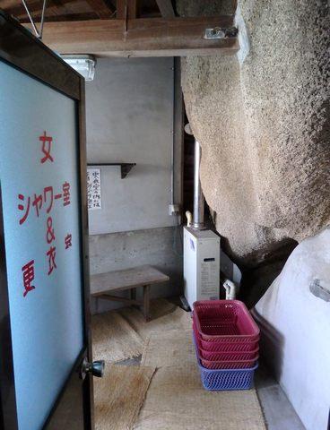 竹原の岩風呂 更衣室の様子