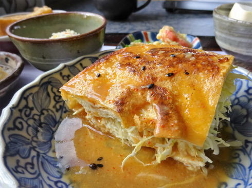 三次 佐々木豆腐店 豆遊(まめゆう) 油揚げ野菜サンド