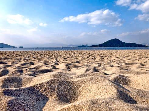 ベイサイドビーチ坂 砂浜